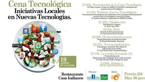 Ader organiza una cena tecnológica para presentar seis iniciativas locales innovadoras