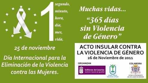 Día Internacional para la eliminación de la Violencia contra las Mujeres.