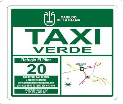 Mapa Paradas de Taxi Verde – Senderismo