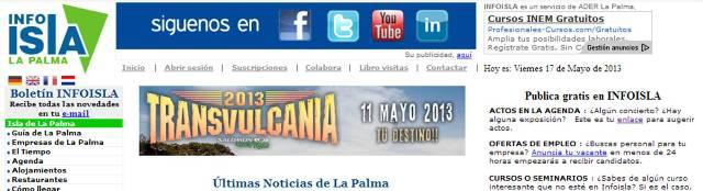 ADER LA PALMA celebra los 10 años de INFOISLA.