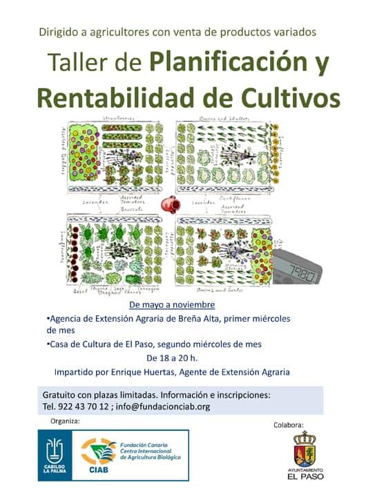 La Fundación CIAB y el Cabildo ponen en marcha un taller de planificación y rentabilidad de cultivos