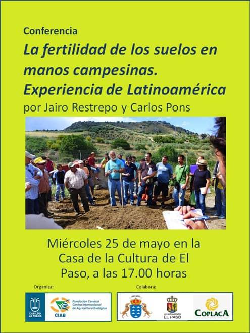 La Fundación CIAB organiza una conferencia del destacado experto mundial en agricultura ecológica, Jairo Restrepo