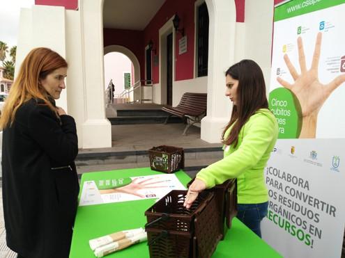 El Consorcio de Servicios de La Palma y el Ayuntamiento de El Paso impulsan la separación de biorresiduos en el municipio