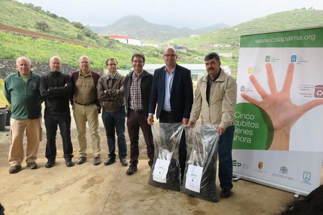 El Vivero del Cabildo comienza a utilizar compost elaborado gracias a la separación de biorresiduos