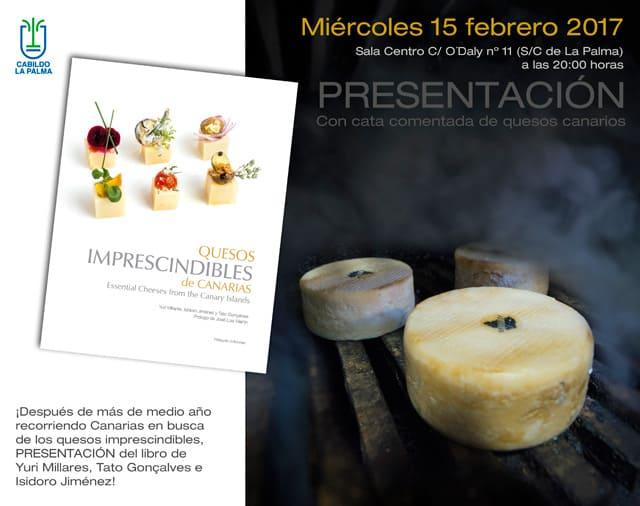 El libro 'Quesos imprescindibles de Canarias' se presenta en La Palma