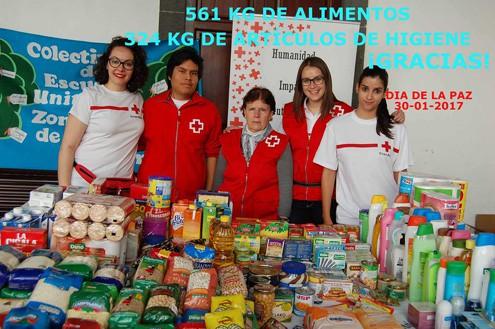 Entrega de la recaudación de los mercadillos solidarios el Día de La Paz