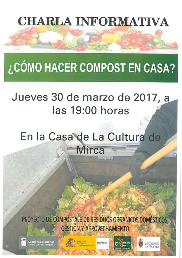 ADER La Palma y el Ayuntamiento de Santa Cruz de La Palma organizan una charla sobre compost doméstico