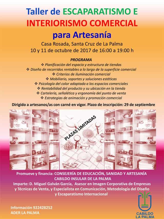El Cabildo de La Palma pone en marcha talleres de interiorismo comercial e innovación en el sector artesanal