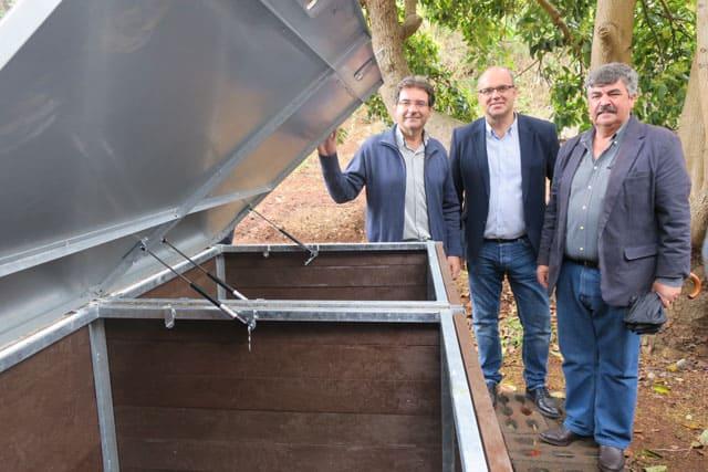 El punto de compostaje comunitario de Puntallana ha recogido más de 3.600 kilos de residuos orgánicos en cinco meses