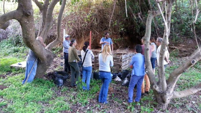 El punto de compostaje comunitario de Puntallana cerró 2017 con la recogida de más de 7.500 kilos de biorresiduos