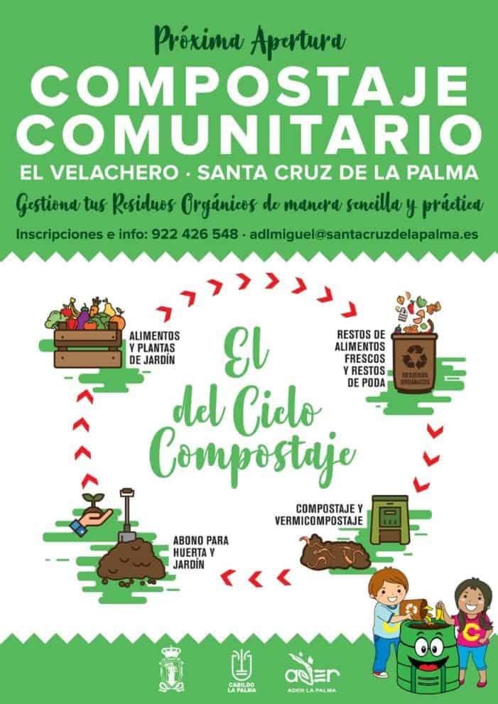 ADER La Palma participa en la gestión del primer proyecto de compostaje comunitario en Santa Cruz de La  Palma