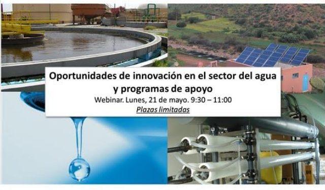 Webinar: oportunidades de innovación en el sector del agua y programas de apoyo
