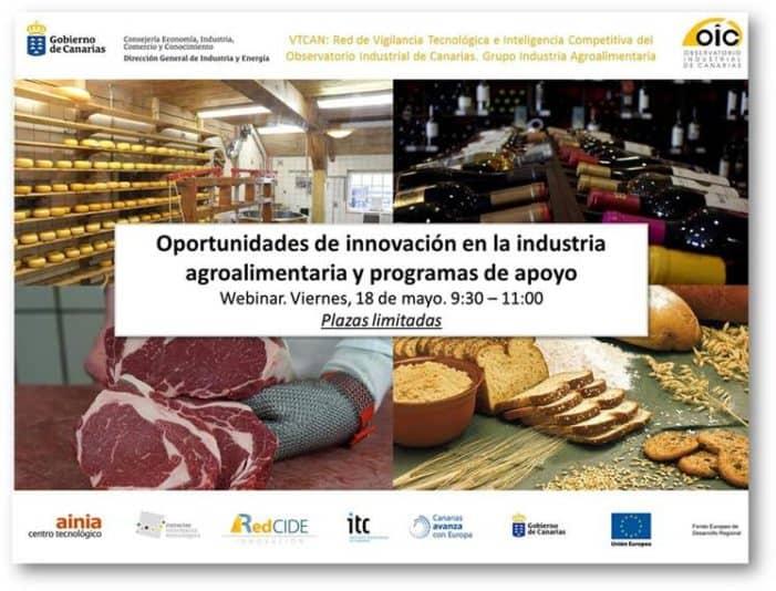 Webinar sobre innovación y transformación digital en Industria Agroalimentaria