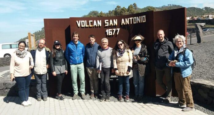 Participantes del Congreso Mundial de Territorios de Terrazas visitan La Palma