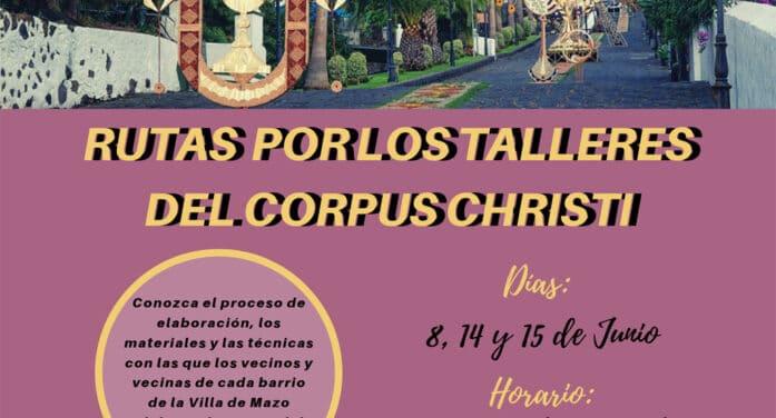 Villa de Mazo organiza visitas guiadas a los talleres del Corpus Christi