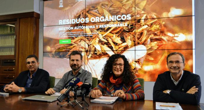 El Cabildo da un impulso decisivo a la implantación de la gestión sostenible de los residuos orgánicos en La Palma