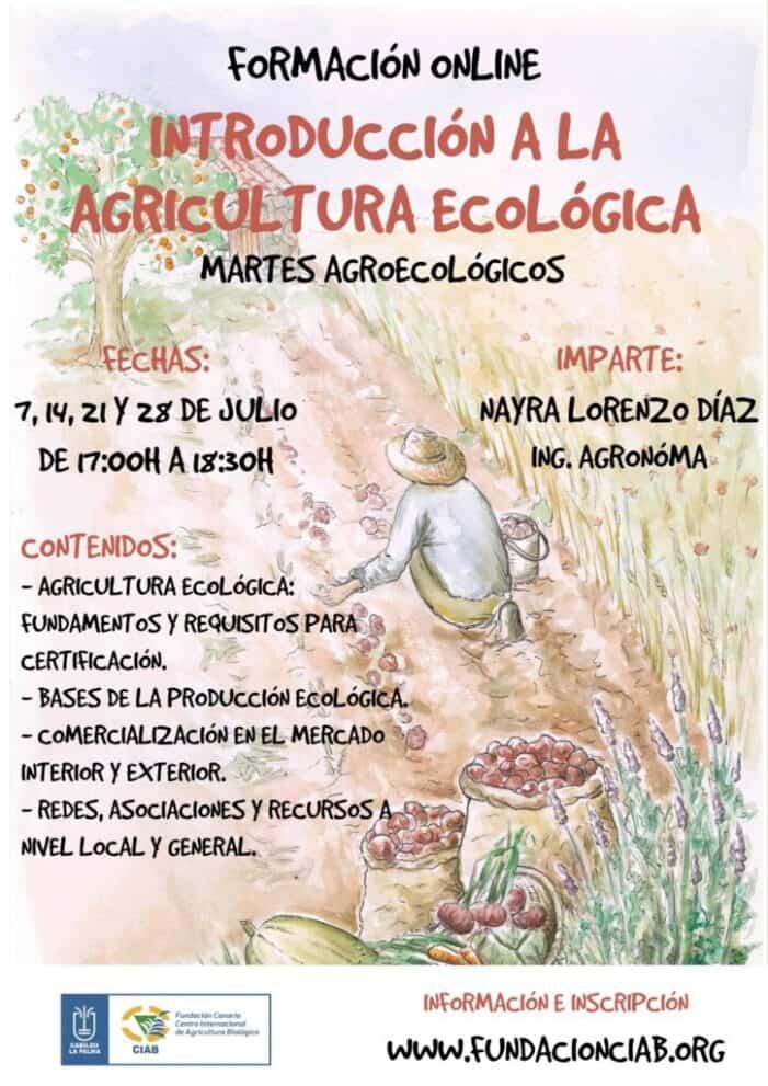 La Fundación CIAB realizará una segunda edición del curso de introducción a la Agricultura Ecológica mediante teleformación