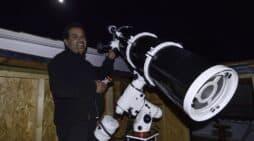 """Miguel Calero y su proyecto """"ASTRONORTE"""" nos muestran la astronomía desde el norte de Isla."""
