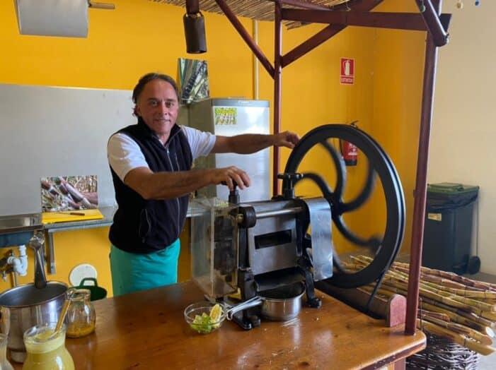 Augusto Rodríguez, el pionero del guarapo de caña de azúcar en La Palma